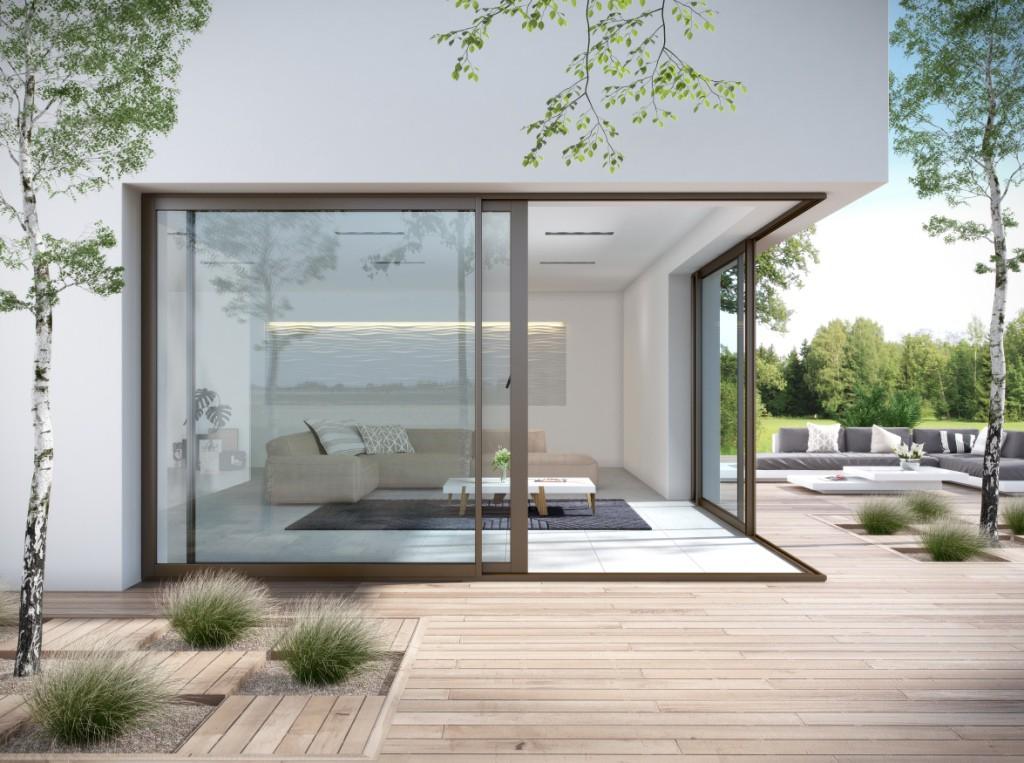 Fen tre et baie vitr e aluminium aluside franciaflex - Store pour baie vitree coulissante ...