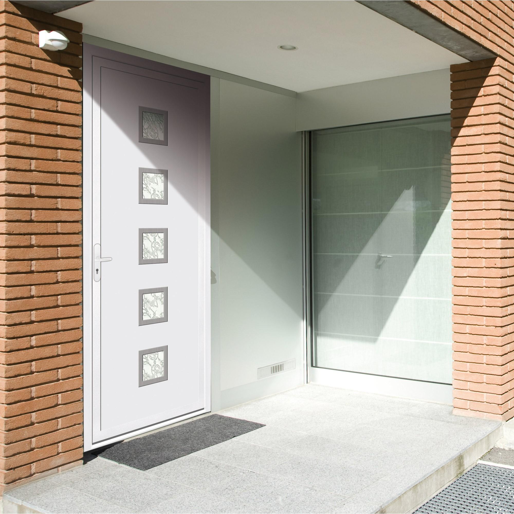 Porte d entr e pvc contemporaine franciaflex for Dormant porte d entree