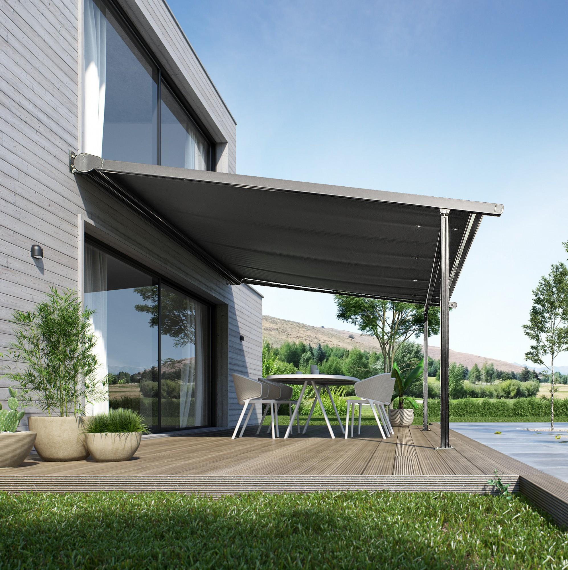 store de terrasse structure fixe terraclim franciaflex. Black Bedroom Furniture Sets. Home Design Ideas
