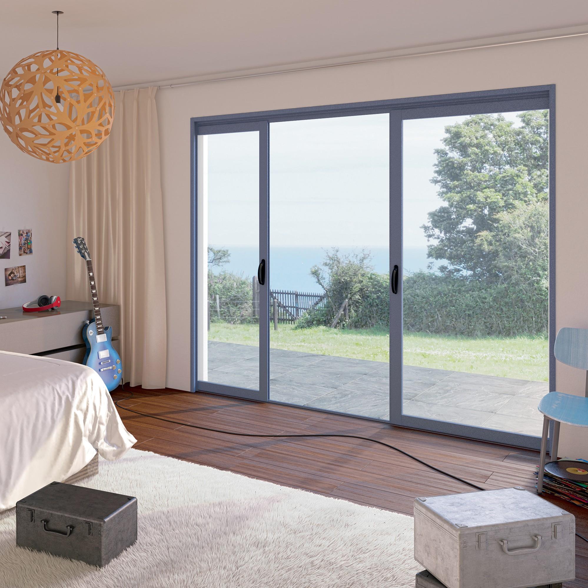 Bien-aimé Fenêtre et baie vitrée aluminium à galandage | Franciaflex WA63