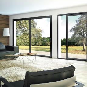 Fen tre porte fen tre baie vitree aluminium franciaflex for Grande fenetre coulissante
