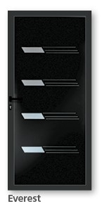 Porte aluminium Thermodesign modèle Everest noir