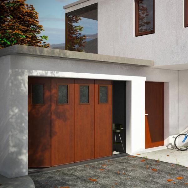 porte de garage sectionnelle surf lat rale franciaflex. Black Bedroom Furniture Sets. Home Design Ideas